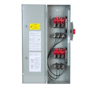 GE TDT3361 Safety Switch, Double Throw, Heavy Duty, 30A, 600VAC, NEMA 1