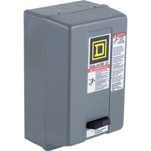 Square D 8536SBG2V02H30S Starter, Size 0, 18A, 600VAC, 120VAC Coil, Non-Reversing, NEMA 1