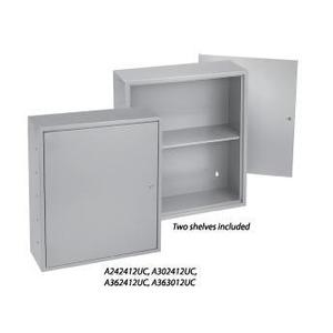 "Hoffman A242412UC Utility Box , Type 1, Hinge Cover, 24"" x 24"" x 12"""