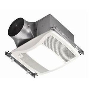 Broan ZB110HL 110 CFM, <0.3 Sones, Humidity Sensing Fan with 36W Fluorescent Light (2-18 watt GU24 bulbs included) and 4W Night Light (bulb not included), Energy Star qualified
