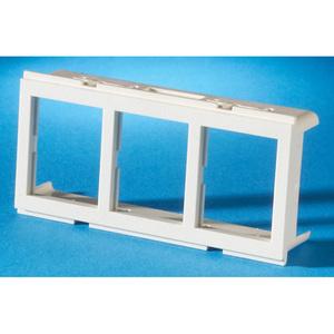Ortronics 42100009 Furniture Bezel, (3) Jack Openings, TracJack, Fog White