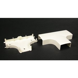"Wiremold PN10F15V Non-Metallic, Tee Fitting, PN10 Series, 2-11/16"" Length, PVC, Ivory"