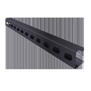 "Calbrite PV0000B52SH Channel with Slots, PVC Coated Steel, 1-5/8"" x 7/8"" x 10'"