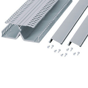 "Panduit DRD22LG6 DIN Rail Wiring Duct, PVC, Gray, 2"" High, 6' Long, Base/Cover/Fasteners"