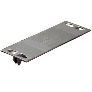 "Dottie 2516 Safety Plate, 16 Gauge Steel, Nail-On, 1-3/4"" x 5"""
