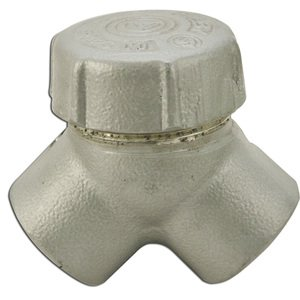 "Appleton ELBY75A Pulling Elbow, Capped, 90°, 3/4"", Explosionproof, Aluminum"