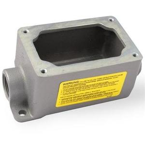 "Appleton EFDC175A-NL-Q Mounting Body, EFD Type, (2) 3/4"" Hubs, 1-Gang, Feed-Thru, Aluminum"