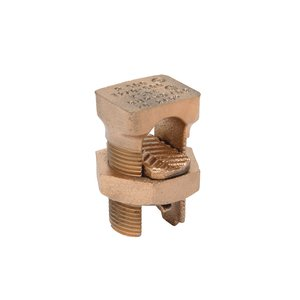 Burndy KS34 Split Bolt, Copper, Run: 2/0 AWG to 500 MCM, Tap: 2/0 AWG to 500 MCM