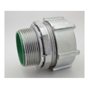 "Bridgeport Fittings 256-USI EMT Compression Connector, 2-1/2"" Insulated Throat, Malleable Iron"