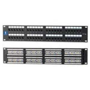 "Bizline PPC6RM48P Patch Panel, Cat 6, 48 Port, 2 Unit Height, 19"" Width"