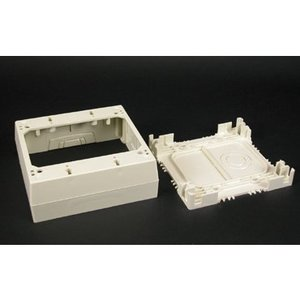 Wiremold 2348-2-WH Deep Device Box, 2-Gang, 2300 Series Raceway, White