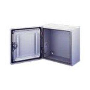 "Hoffman CSD30308LG Enclosure, NEMA 4/12, Hinge Cover, 30"" x 30"" x 8"", Steel"