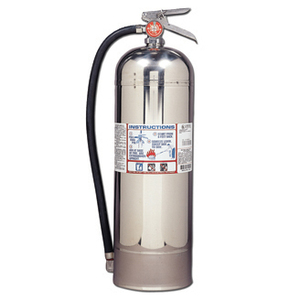 Kidde Fire 21006287 Disposable Fire Extinguisher with Metal Retention Strap Bracket, Silver