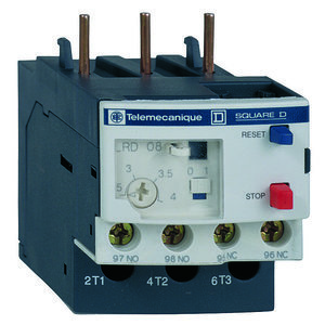 Square D LRD12 Overload Relay, 5.5-8A Range, Class 10 for LC1D12-D32 Contactor
