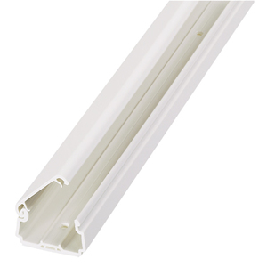 "Panduit LDPH5IW6-A Non-Metallic Surface Raceway, One-Piece, Hinged, 1"" x 6', Off White"