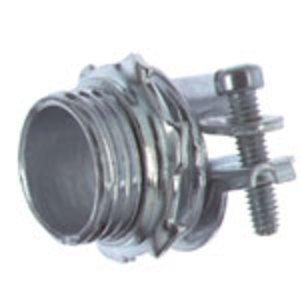 Thomas & Betts 3302-TB Flex Connector, 2-Screw, Straight, 1/2 Inch, Malleable Iron