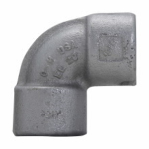 """Cooper Crouse-Hinds EL19SA Elbow, Male/Female, 90°, Size: 1/2"""", Explosionproof, Aluminum"""