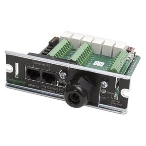 American Power Conversion AP9613 I/O Module, Dry Contact SmartSlot, 4 Inputs Contacts, 6 Output Relays
