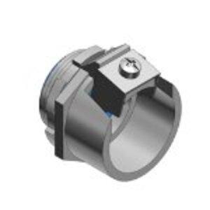 "Thomas & Betts 3110-TB Flex Connector, 1-Screw Clamp, 3/8"", Steel"
