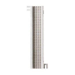 "Leviton 40066-M50 Split M Block: 50-pair (66m1-50) 10"" H x 3-5/16"" W x 1-3/16"" D"