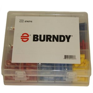 Burndy STKIT15 Terminal Kit, Vinyl Insulated, Tin Plated, 15 Slot Term Kit