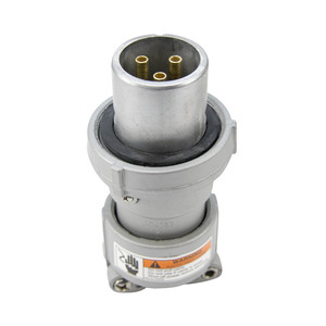 Appleton ACP6033BC Clamping Ring Plug, 60 Amp, 3-Pole, 3-Wire