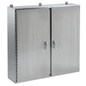 "Hoffman A42H6012WFSSALP3PT Wall Mount Enclosure, Two Door, 42 x 60 x 12"", Stainless Steel"