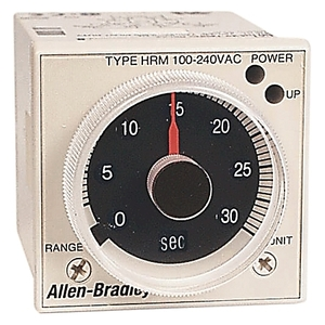 Allen-Bradley 700-HRM12TA17 Timing Relay, On-Delay, 100-240VAC, 2PDT, Trigger, Power On