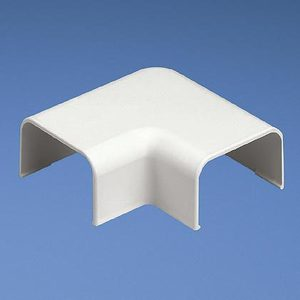 Panduit RAF10WH-X Right Angle Fitting, LD10 Raceway, Non-Metallic, White