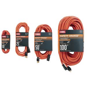 General Cable 03356.63.04 Indoor/Outdoor Extension Cord, Orange, 14/3 SJTW, 50' Long