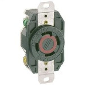 Leviton 2730 Locking Single Receptacle, 30A, 3PH 480V, 3P4W
