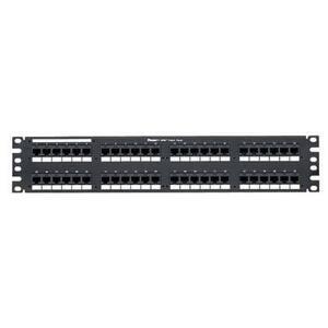 """Panduit DP48688TGY Patch Panel, Cat 6, 48 Port, 2 Unit Height, 19"""" Width, DP6 Plus, RJ45"""