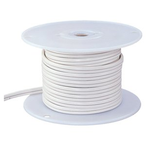 Ambiance Lighting 9470-15 Indoor Low Voltage Cable, 10/2, White, 50'