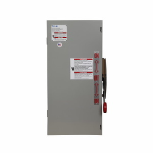 Eaton DT361NGK Safety Switch, Double Throw, Heavy Duty, 30A, 3P, 600VAC, NEMA 1