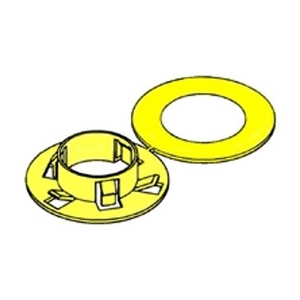Bridgeport Fittings 9882 Universal Stud Bushing, Yellow, Material: Non-Metallic