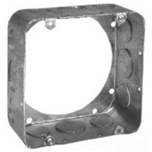 "Cooper Crouse-Hinds TP564 4-11/16"" Square Extension Ring, 2-1/8"" Deep, Drawn, Metallic"