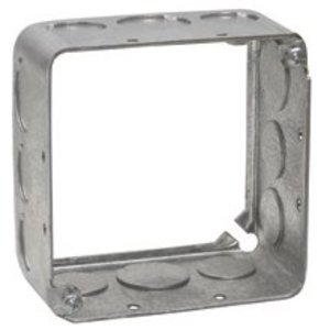 "Cooper Crouse-Hinds TP428 4"" Square Extension Ring, 1-1/2"" Deep, Drawn, Metallic"