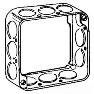 "Cooper Crouse-Hinds TP424 4"" Square Extension Ring, 1-1/2"" Deep, Drawn, Metallic"