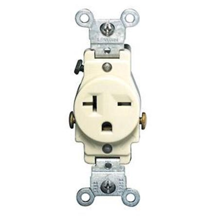 Leviton - 5821-I, 20 Amp - Single, Receptacles - Commercial, Wiring Devices  - Platt Electric Supply