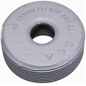 "Appleton RB400-200 Reducing Bushing, Threaded, 4 x 2"", Malleable Iron"