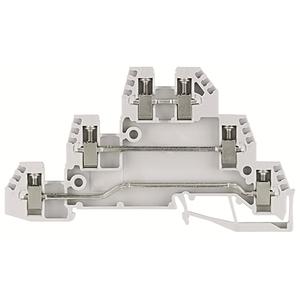 Allen-Bradley 1492-WTF3 Terminal Block, 3 Circuit, 10A, 300V AC/DC, Gray, 2.5mm