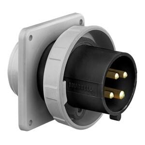 Hubbell-Wiring Kellems HBL420B5W HUB HBL420B5W PS, IEC, INLET, 3P4W,