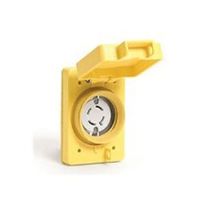 Woodhead 69W75 Watertight Locking Receptacle, 30A, 3PH 250V, L15-30R