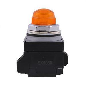 GE CR104PLG88M Indicator Light, Amber, LED, 24VAC/DC