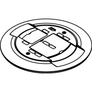 Wiremold AMD8CTCBK BK FL & BK CV/COMM CONN/TC