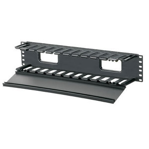 "Panduit WMPF1E Cable Manager, Horizontal, PatchLink, 3.5"" H x 19"" W x 8.9"" D, 2RMU"