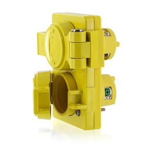 Leviton 85W47-D Locking Duplex Outlet, Watertight and Dust-Tight, 15A