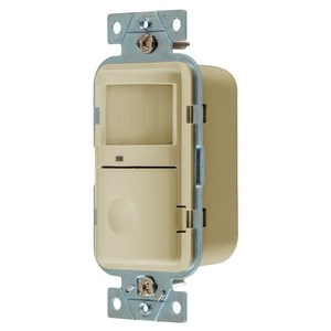 Hubbell-Wiring Kellems WS2000I Occupancy Sensor, Wall Mount, PIR, 180°, 120/277VAC, Ivory
