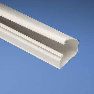 "Panduit LD10IW10-A Non-Metallic Surface Raceway, 1-Piece, Hinged, 1-1/2"" x 10', Off-White"