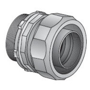 """EGS 4QS400 Liquidtight Connector, Straight, Size: 4"""", Malleable Iron"""